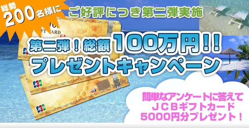総額100万円プレゼントキャンペーン・新日本地所